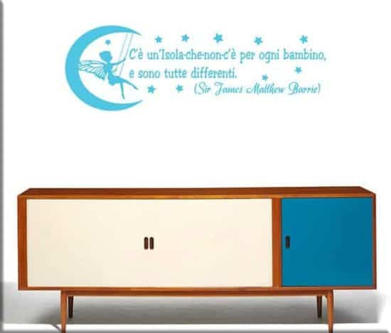 wall stickers frase peter pan fantasia
