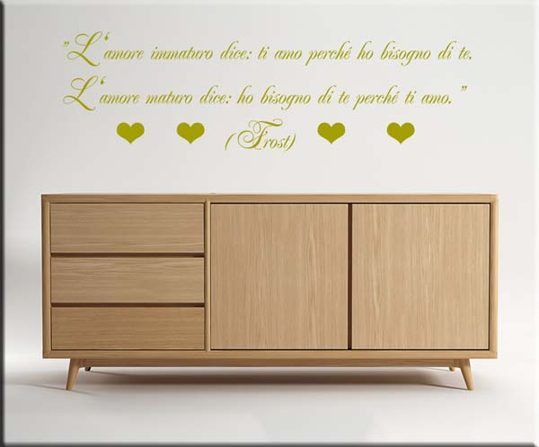 wall stickers frase robert frost amore