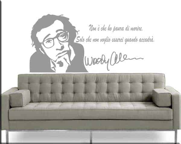 wall stickers frase woody allen
