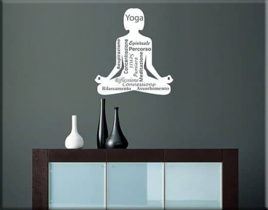 wall stickers posizione yoga meditazione