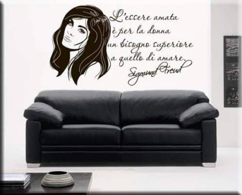 Adesivi da parete citazione Sigmund Freud