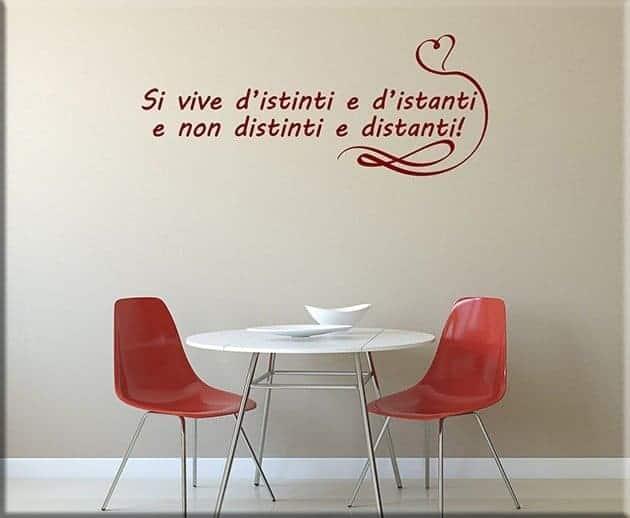 Adesivi da parete frase love arredo design