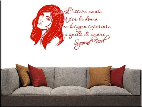 Adesivi murali citazione Sigmund Freud