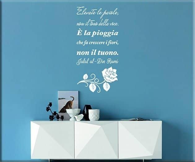 adesivi da parete citazione Jialal al-Din Rumi
