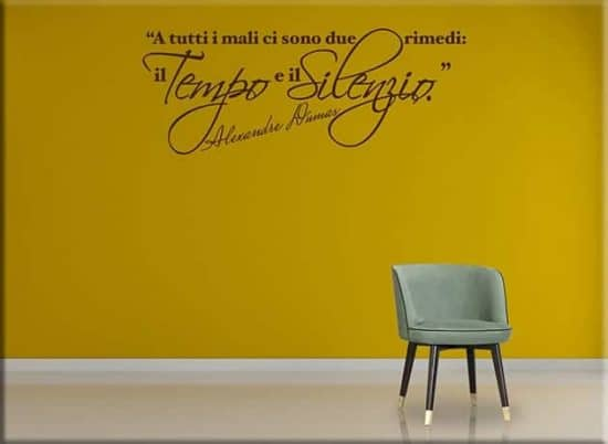 adesivi da parete frase Alexandre Dumas