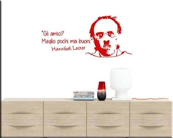 adesivi da parete frase Hannibal Lecter amici