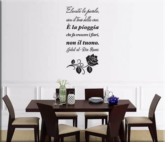 adesivi murali citazione Jialal al-Din Rumi