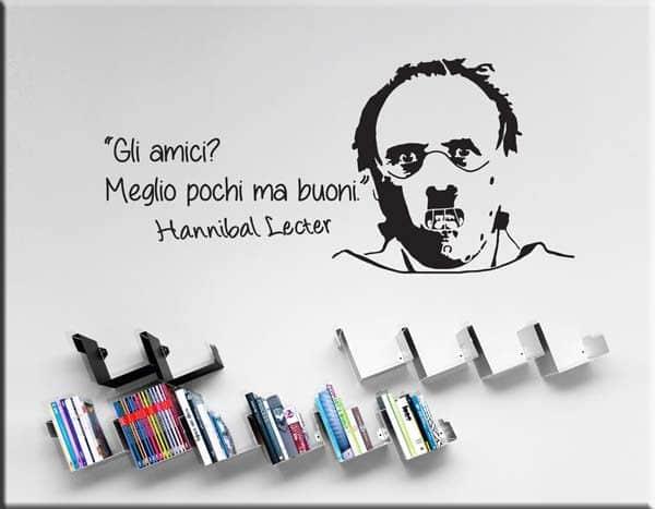 adesivi murali frase Hannibal Lecter amici