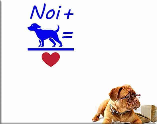 adesivi murali love dog cane design