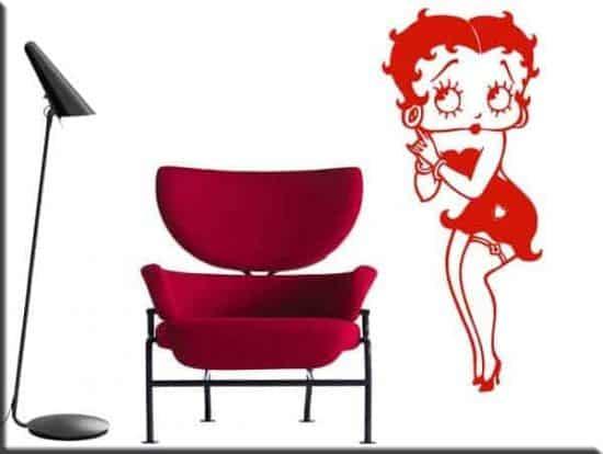 adesivo da parete Betty Boop