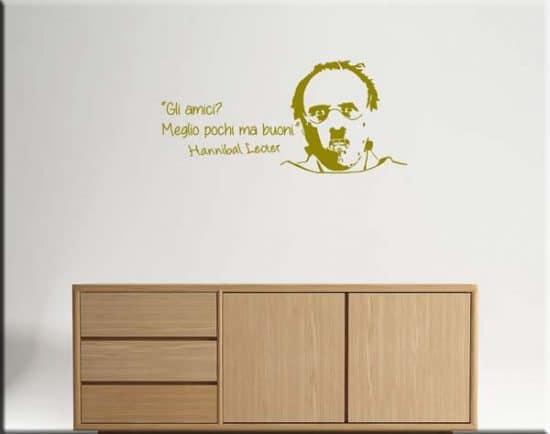 decorazioni adesive murali frase Hannibal Lecter