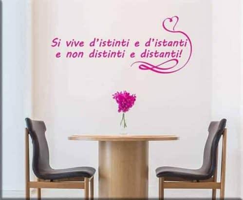 decorazioni adesive murali frase love arredo