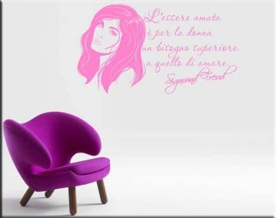 decorazioni murali citazione Sigmund Freud