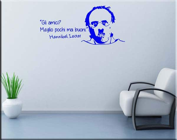 wall stickers frase Hannibal Lecter amici
