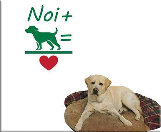 wall stickers love dog cane design