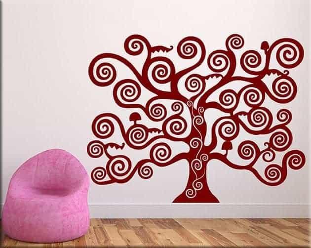 adesivi murali albero della vita di klimt arredi murali