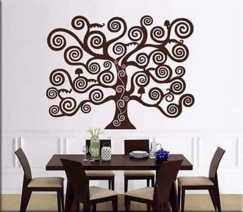Adesivi murali albero della vita di Klimt