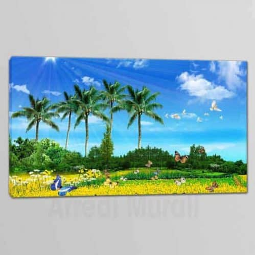 quadro su tela con paesaggio naturale, tela singola