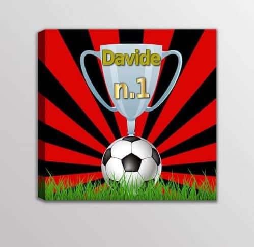Quadro moderno nome personalizzato squadra calcio bambini