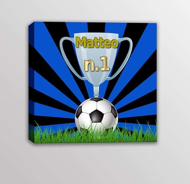 Quadro-moderno-nome-personalizzato-squadra-calcio-bambini-nero-azzurro