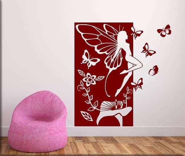 adesivi da parete fata fantasy pannello arredo