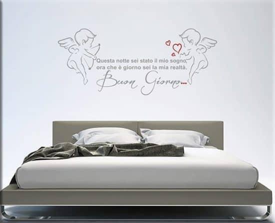 adesivi da parete frase amore buon giorno