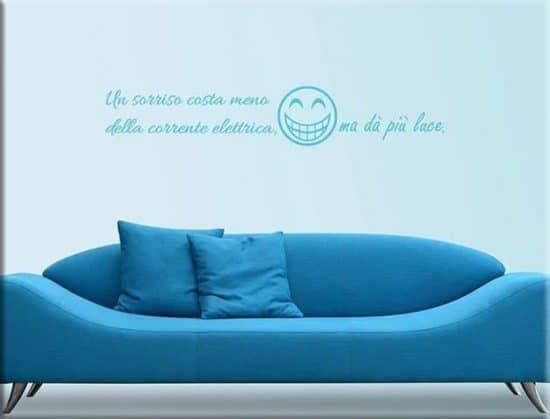 adesivi da parete frasi divertenti sorriso