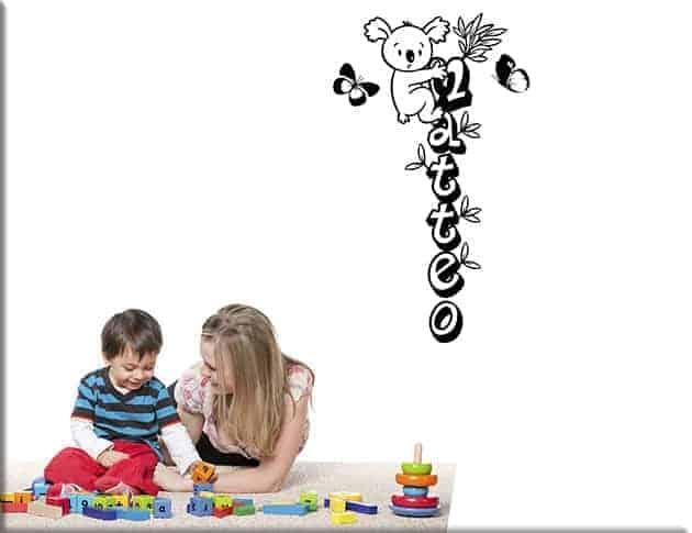 adesivi da parete personalizzati camerette bambini