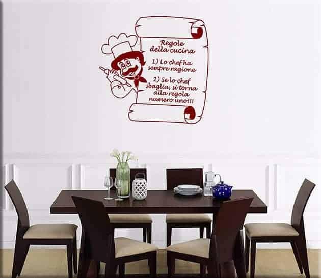 Adesivi murali regole della cucina - Adesivi da parete per cucina ...