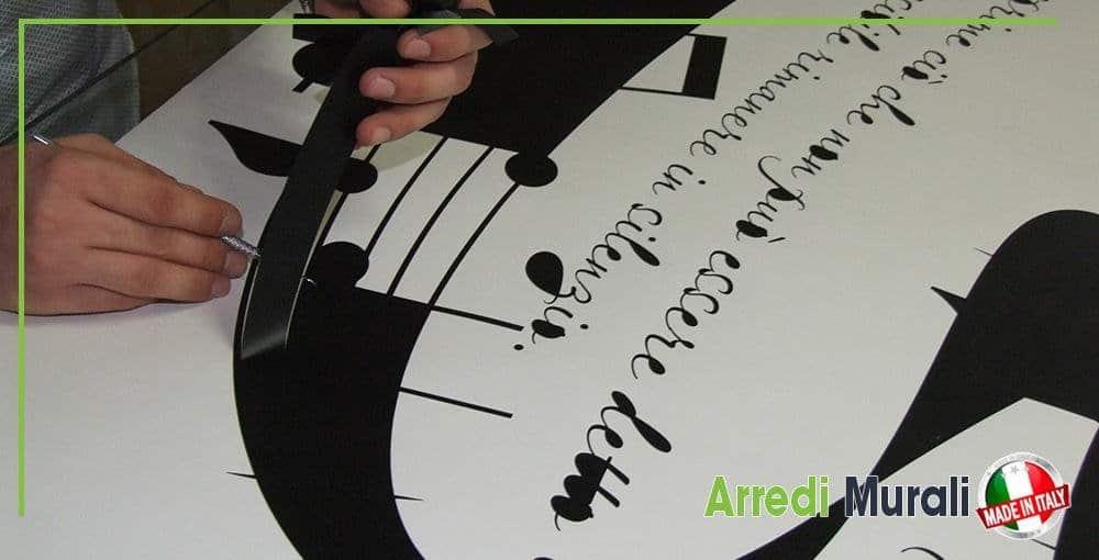 adesivi murali come si creano spellicolare l'adesivo