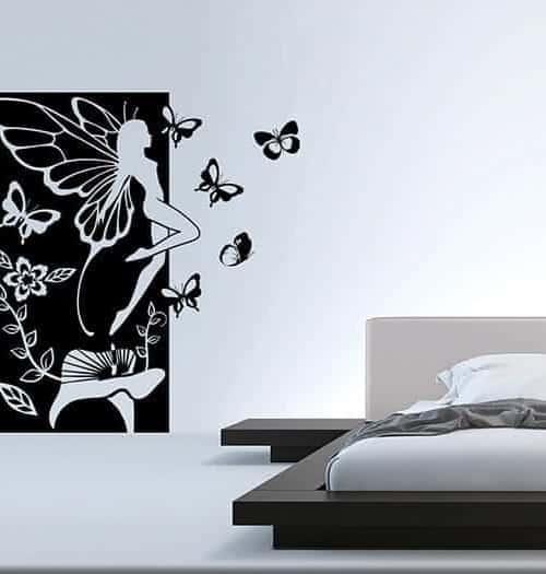 Adesivi murali fata fantasy pannello arredo for Adesivi x pareti