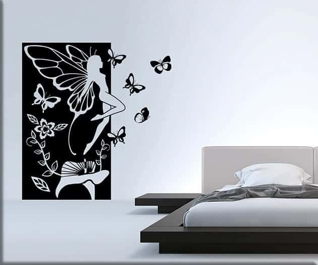 adesivi murali fata fantasy pannello arredo