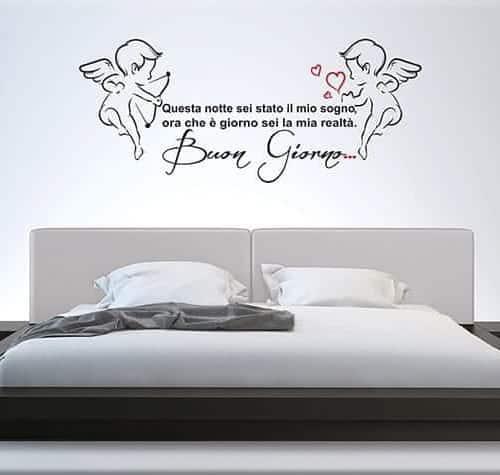 Frasi per parete camera da letto xo22 regardsdefemmes - Decorazioni murali per camere da letto ...