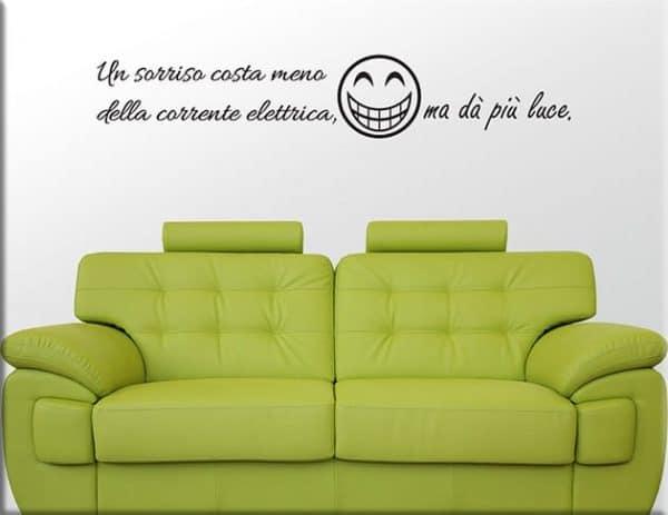 adesivi murali frasi divertenti sorriso