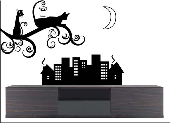 adesivi-murali-gatti-stilizzati-città