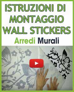 applicare stickers da muro