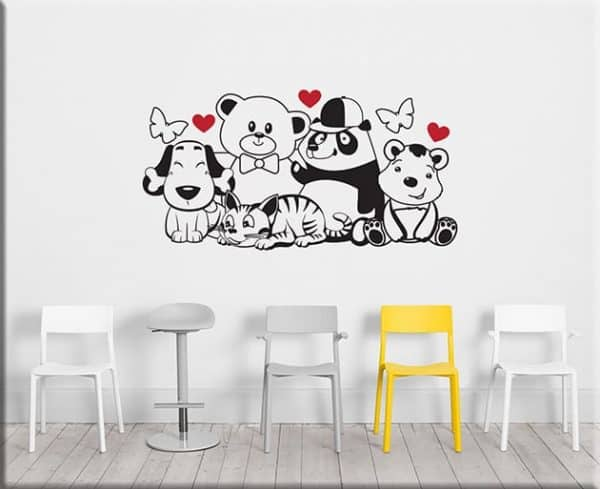 adesivi murali orsetti cameretta bimbi