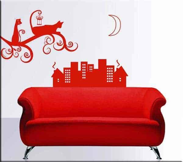 decorazioni-adesive-murali-gatti-stilizzati-città