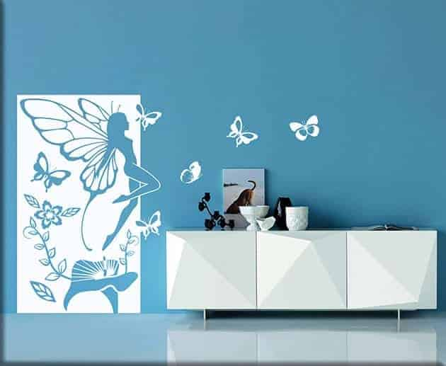 decorazioni murali fata fantasy pannello arredo