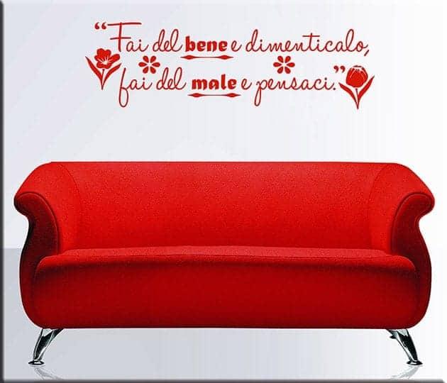 decorazioni murali frase proverbio italiano