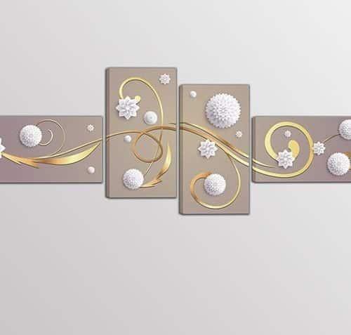 quadri moderni arte digitale quattro stampe su tela