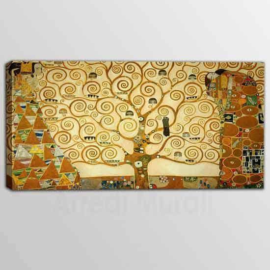 Quadro riprodotto l'Albero della Vita di Klimt