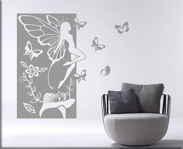 wall stickers fata fantasy pannello arredo