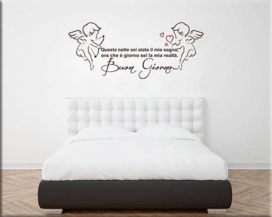 wall stickers frase amore buon giorno
