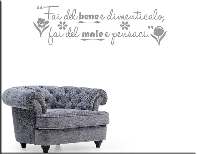 wall stickers frase proverbio italiano