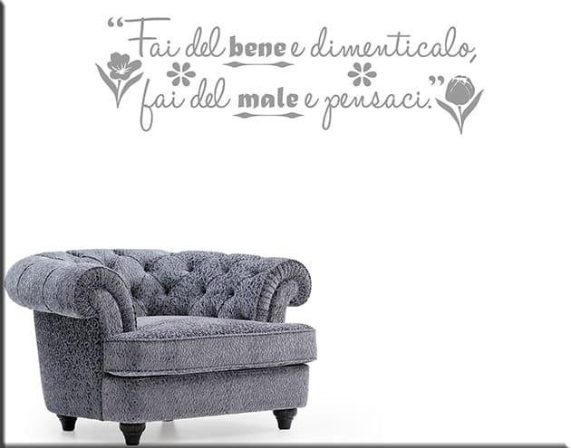 wall stickers frase proverbio italiano