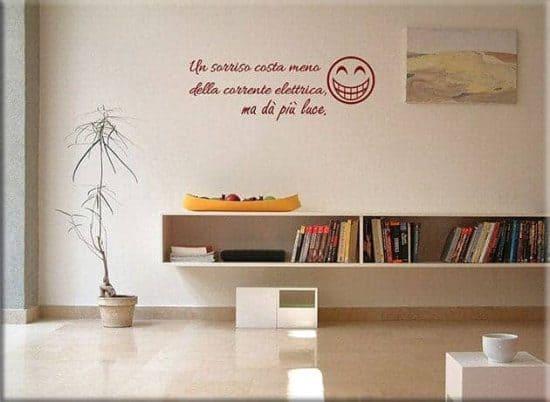 wall stickers frasi divertenti sorriso