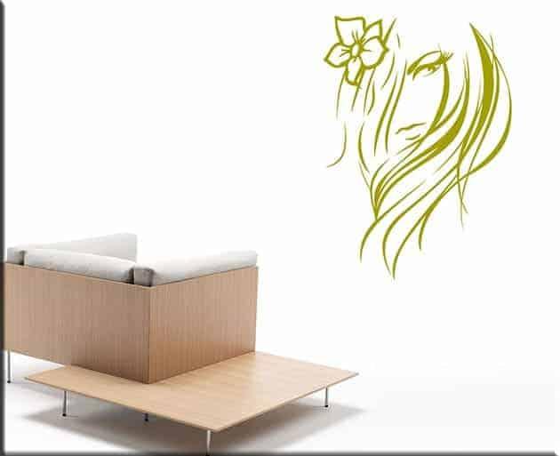 Adesivi da parete viso donna stilizzato