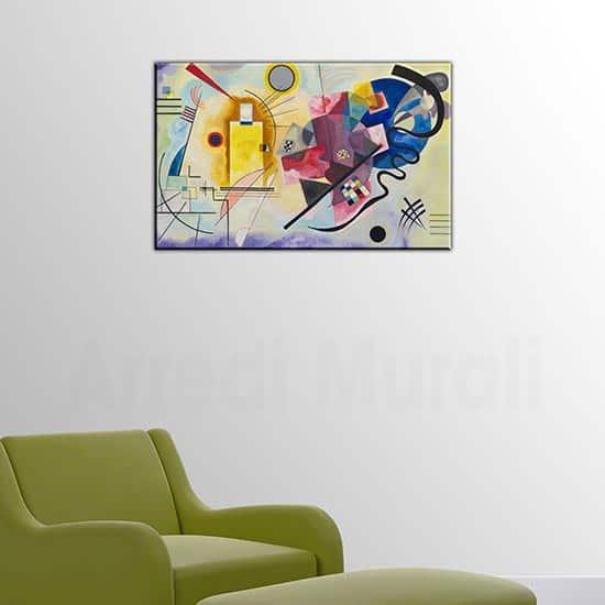 quadro su tela Kandinsky Giallo Rosso Blu