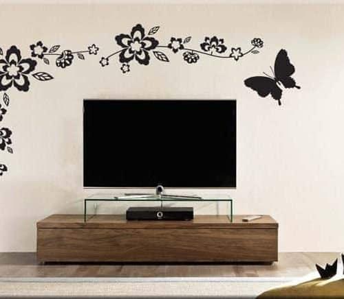adesivi murali fiori farfalla arredo design